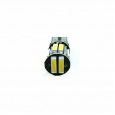 Автолампа светодиодная T10 (W5W) 12V 7020 10 SMD LED White
