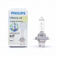 Автолампа галогеновая H7 12V 55W PX26d LongLife EcoVision (Philips)