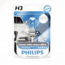 Автолампа галогеновая H3 12V 55W PK22s WhiteVision (Philips) блистер