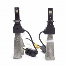 Автолампа светодиодная Н7 Epistar LED 5000К 2шт с лентой охлаждения