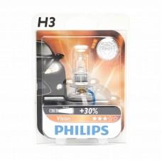 Автолампа галогеновая H3 12V 55W PK22s Vision+30% (Philips) блистер
