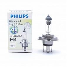 Автолампа галогеновая H4 12V 60/55W P43t LongLife EcoVision (Philips)
