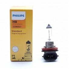 Автолампа галогеновая H8 12V 35W PGJ19-1 Vision+30% (Philips)