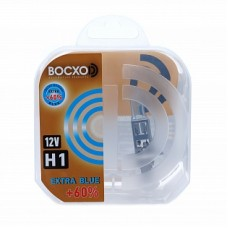 Автолампа галогеновая H1 12V 55W P14.5s Extra Blue+60% 2шт (BOCXOD)