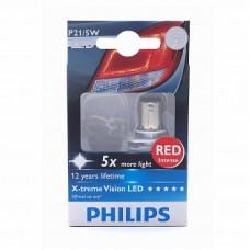 Автолампа светодиодная P21/5W 12/24V X-treme Vision LED Red intense (Philips)