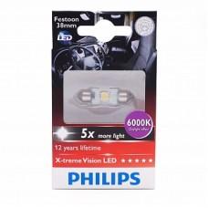 Автолампа светодиодная C5W (T10,5x38) 24V X-treme Vision LED 6000K (Philips)