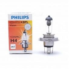 Автолампа галогеновая H4 12V 60/55W P43t Vision+30% (Philips)