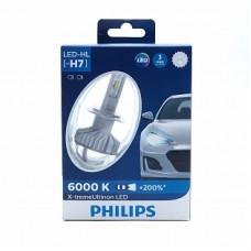 Автолампа светодиодная H7 12V 55W X-tremeUltinon LED+200% 2шт (Philips)