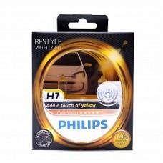 Автолампа галогеновая H7 12V 55W ColorVision Yellow 2шт (Philips)