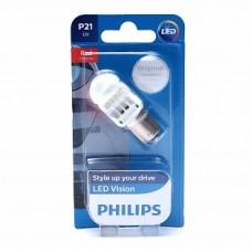 Автолампа светодиодная P21W 12V Vision LED Red intense (Philips)