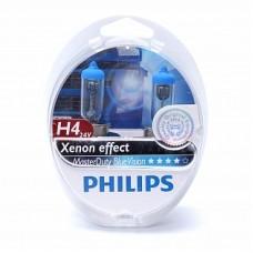 Автолампа галогеновая H4 24V 75/70W P43t MasterDuty BlueVision 2шт (Philips)