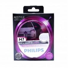 Автолампа галогеновая H7 12V 55W ColorVision Purple 2шт (Philips)