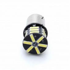 Автолампа светодиодная BA15S 12V 21 SMD LED White (12/21)