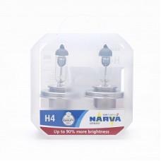 Автолампа галогеновая H4 12V 60/55W P43t Range Power +90% (Narva) 2шт