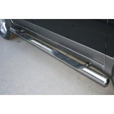 "Пороги труба с двумя проступями d 76 (компл 2шт) ""Hyundai IX55"" 2009-, HYIX.81.0901"