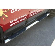"""Пороги труба d76 с 2-мя проступями """"Nissan Qashqai"""" 2010-, NQSH.81.1117"""