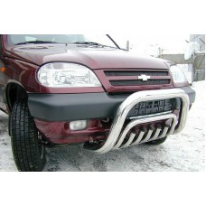 "Решетка передняя, мини d 76 (возм-на уст-ка ниж.защ) ""Chevrolet Niva"" 2009-, CN09.56.0854"