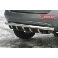 """Решётка задняя d 60 с нижней защитой """"Nissan Murano"""" 2005-2008, NMUR.78.0299"""